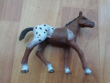 """5"""" SCHLEICH RETIRED 2012 APPALOOSA SPOTTED BROWN FOAL MARE HORSE FIGURE"""