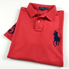Ralph Lauren Polo Camisa Para Hombre Custom Slim Fit Rojo Big Pony RRP £ 119