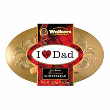 Walkers I Love My Dad Shortbread Oval Gold Tin Cookies Biscuits 175g