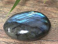 Labradorite Gallet Palm Stone Crystal Therapy Worry Soap Specimen Reiki Chakra.