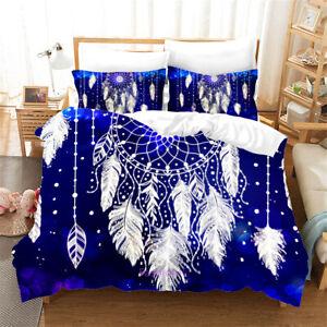 Dreamcatcher Blue Duvet Quilt Doona Cover Set Single/Queen/Double/King Bed Linen