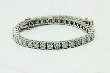 11.00 ct round cut white gold 14k diamond tennis bracelet D SI1 NOT ENHANCED