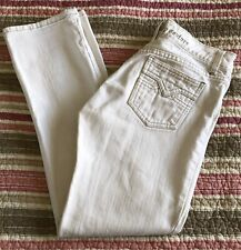 Juicy Couture Black Label Women's Jeans Size 26 White W Tan Stitching