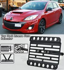 For 10-13 MazdaSpeed 3 Hatch Front Bumper Tow Hook License Plate Bracket Mount