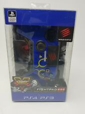 Brand New Street Fighter V - Blue PS3/PS4 Controller Mad Catz Fight pad pro