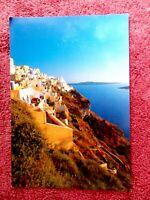 HILL SIDE CITY IN GREECE  COLOUR POSTCARD  [296]