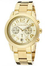 MK5726 - New Michael Kors Mercer Chrono Mid-Size Gold Tone Steel Women's Watch