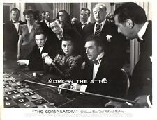 HEDY LAMARR IS HOOKED UP WITH THE CONSPIRATORS ORIGINAL VINTAGE WB STILL #!
