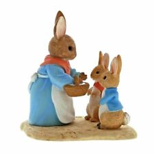 Beatrix Potter Mrs Rabbit Flopsy and Peter Collectable Figurine - Boxed Ornament