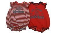 MLB St. Louis Cardinals Girls Majestic Infant 2 Piece Creeper Bodysuit Set New