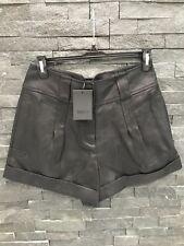 NWT Bird by Juicy Couture Black Edlyn Raffia Cuffed Shorts Sz 4 $248