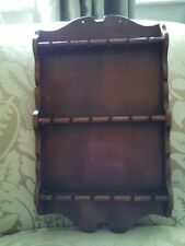 Vintage AntiqueThree Mountaineers Wooden Souvenir Collectible Spoon Rack Display