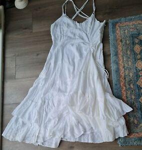 La Redoute White Gypsy Style Dress Size 14