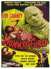 THE MUMMY'S CURSE  LOBBY CARD POSTER OS 1951-R LON CHANEY KAY HARDING PETER COE