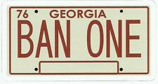 SMOKEY AND THE BANDIT LICENSE PLATE  Sticker Decal