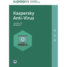 Kaspersky Anti-Virus | 2017 | 1 user, 1 Year (Retail License Key Card)
