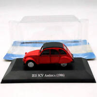 IXO 1:43 Citroen IES 3CV America 1986 Diecast Models Limited Edition Toys Red