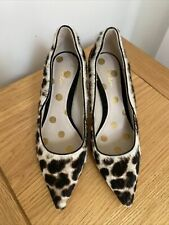 Boden Gorgeous SIZE 3 -3.5 Uk Shoes 100% Leather Animal Pony Leopard Worn Once