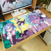 Hot Re:Zero Rem Ram Anime Large Mouse Pad Desk Game Play Mat Mice 60x30cm Gift