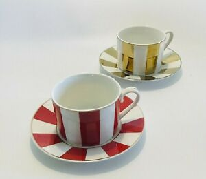 Grace's Teaware Set of Two Cups and Saucers Serving Tableware