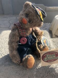 Ganz Cottage Collectibles Chico YES-NO Teddy Bear Moving Head Jointed with Tags.