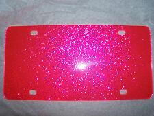"Blank Pink Sparkle Acrylic License Plates 12"" x 6"" (wholesale)"