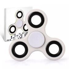 Spinner Fidget Jouet Tri Fidget Hand Spinner Pour Adultes Enfant, couleur BLANC