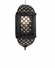 Black Metal With Acrylic Beaded Fashion Lampshade Light Shade