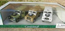 1:43 CARARAMA *LAND ROVER SERIES III 109* 3pc MILITARY ARMY SET  Diecast *NIB*