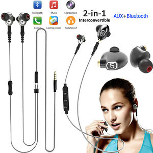 Wireless Bluetooth Headset Headphone with AUX Model Wired for Samsung Tablet PC