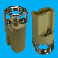 10x G9 Base Ceramic Lamp Holder Socket, M10 Bracket Halogen Down Bulb Fitting