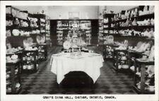 Chatham Ontario Gray's china Wall Store Interior Real Photo Postcard