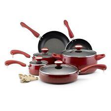 NEW Paula Deen Signature Red Speckle Porcelain Nonstick 15-piece cookware Set