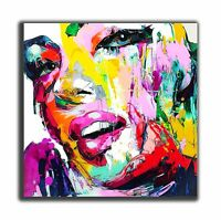 QUADRO Marilyn Monroe dipinto a mano pop art abstract  painting GIà CON TELAIO
