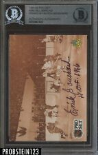 1991-92 Pro Set #340 Bill Barilko Signed By Butch Bouchard AUTO BGS Authentic