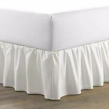 New Listing14.5 in. White Solid Ruffled Twin Cotton Bed Skirt