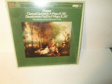 MOZART CLARINET QUINTET IN A MAJOR / DIVERTIMENTO - VIENNA OCTET rare LP Vinyl