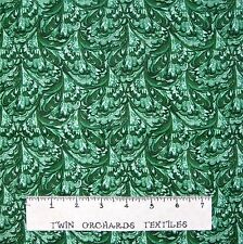Calico Fabric - Dark Green Tonal Feather Blender - Cotton YARD