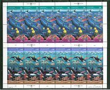 UN1992 Clean Oceans Shts 12 NH:NY #603-04; Geneva 214-15; Vienna127-28;Lot#6/2