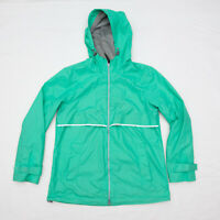Charles River Apparel Women Englander Waterproof Rain Jacket aqua green M