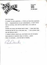 Magic Ephemera - Personal Signed Letter from PAUL DANIELS TO FAN