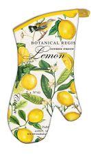 "Michel Design Works ""Lemon Basil"" Extended Length Oven Mitt with Hanging Tab"