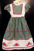 Embroidered Eyelet Lace Dress Vintage Heirloom Girls Size 4