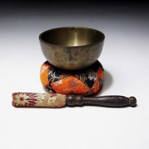 $OF44: Vintage Japanese Copper Buddhist Bell, ORIN Set, Singing bowl