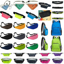 Unisex Outdoorwear Waterproof Backpack Hiking Running Sport Bags Camping Waist B