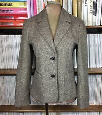 MAX & CO Max Mara blazer jacket hunting elbow patches brown boucle 42 UK 10 US 6