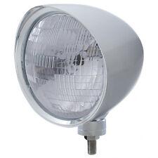 "Chrome 7"" Billet Style ""CHOPPER"" Headlight w Smooth Visor - H6024 Seal Beam Bulb"