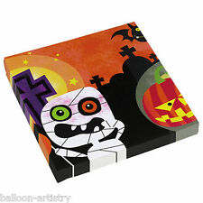 20 Halloween Cheerful Mummy Monsters Child's Party 33cm Paper Luncheon Napkins