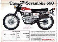 1968 Honda CL-350 Scrambler  motorcycle sales brochure/flyer, (Reprint) $6.50