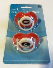 Georgia Bulldogs Baby Infant Pacifiers NCAA NEW - 2 Pack GREAT SHOWER GIFT!